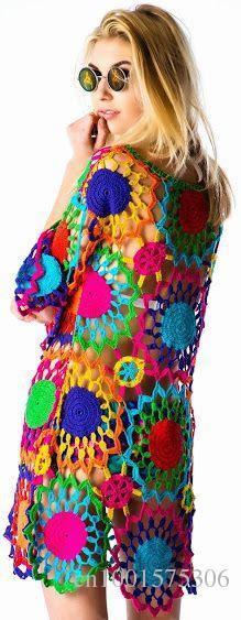crochet dress,boho clothing,gypsy dress,vintage,gift ideas,summer dress,beach handmade Crochet dress - Made to Order