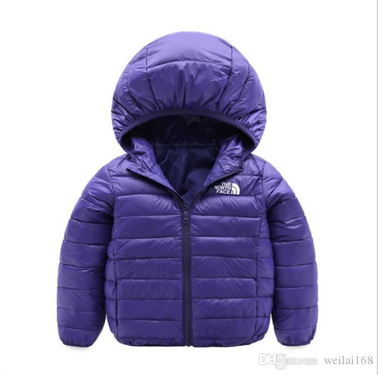 b642eafa4c53 Brand Face North Baby Winter Jackets Light Kids White Duck Down Coat ...