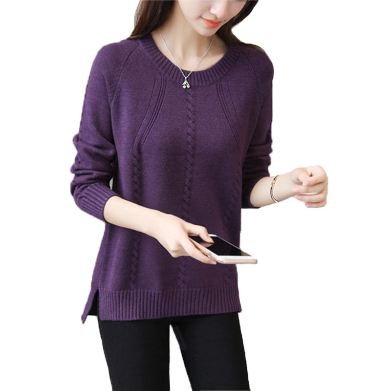 Autumn Winter Sweater Women Long Sleeve Pullover Women Basic Sweaters Women  2018 Solid Color Knit Tops Femme 722706 Online with  35.02 Piece on  Wanglon04 s ... fb3d387f2