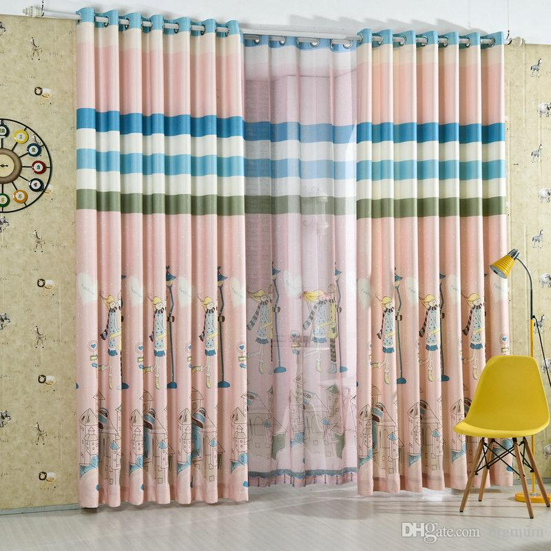 Romantic Cartoon Blackout Curtains Pink Blue Velvet Printed Curtain For  Living Room Kids Room Princess Style For Bedroom Drapes UK 2019 From  Bigmum, ...