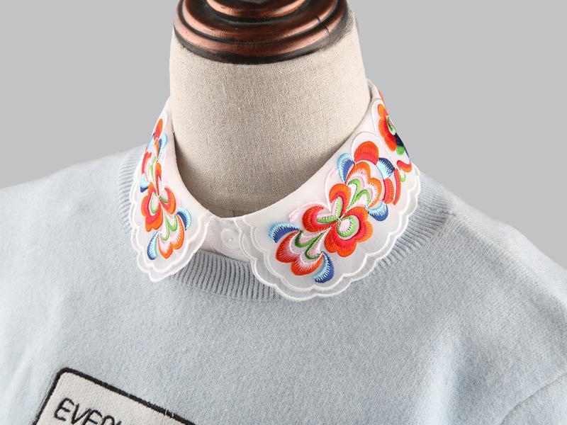 Поддельный воротник осень зима дикие украшения искусства вышивки поток аксессуары Блузка украшения поддельные рубашки воротник декоративные воротники