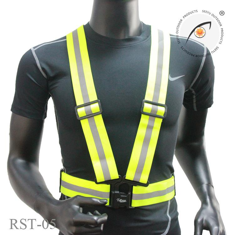 Running Vests Reflective Outdoor Cycling Safety Protective Vest Bike Bicycle Harness Night Running Jogging Vest Men Women Running Vests Vests