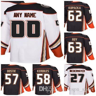 a0b3963e3 2019 2018 New Brand Adults Anaheim Ducks 57 Alex Dostie 58 Nic Kerdiles 62  Jack Kopacka 63 Kevin Roy Ice Hockey Jerseys Accept Custom From Espn sport