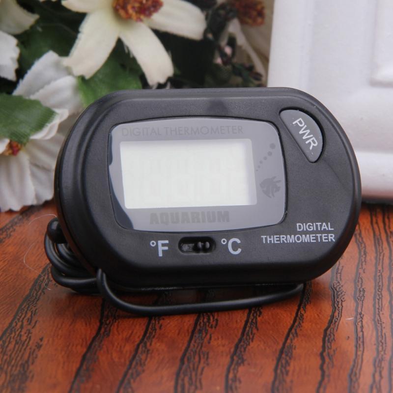 Dijital LCD Ekran Sensörü Akvaryum Termometre Kablolu Balık Tankı Sıcaklık Ölçer Elektronik Sıcaklık Ölçüm Vantuz STD-1