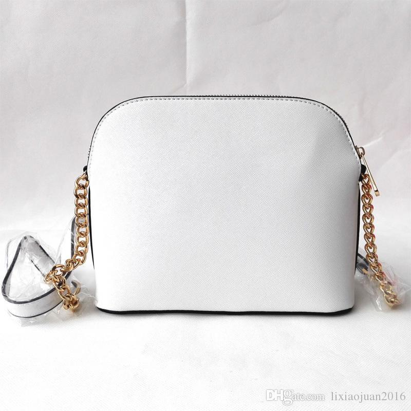 شحن مجاني 2020 حقيبة يد جديدة الصليب نمط الجلود الاصطناعية شل سلسلة حقيبة الكتف رسول حقيبة أزياء صغيرة الاتجاه