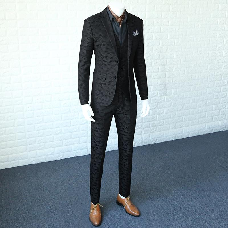 80335bf3023 2019 2018 New Fashion Spring And Autumn Korean Mens Slim Casual Suit Male  Camouflage Black Suits Jacket Man Blazer Coat 365wt01 From Genguo