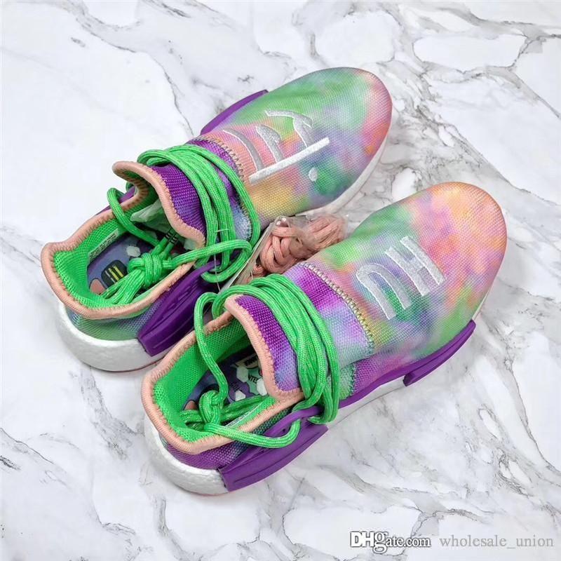 2018 originales Pharrell x 2088adidas NMD Hu Trail Holi corriendo zapatos