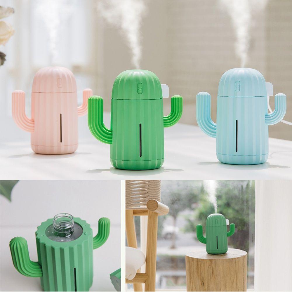 Portable USB Mini Cactus Shape Cartoon Air Humidifier
