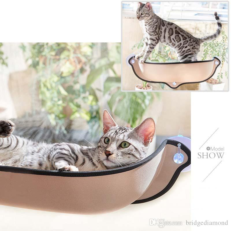 Cat Hammock Cat Window Bed Lounger Sofa Cushion Hanging Shelf Seat With  Suction Cup For Ferret Chinchilla Cardboard Cat Toys Cat Accessories And  Toys From ...