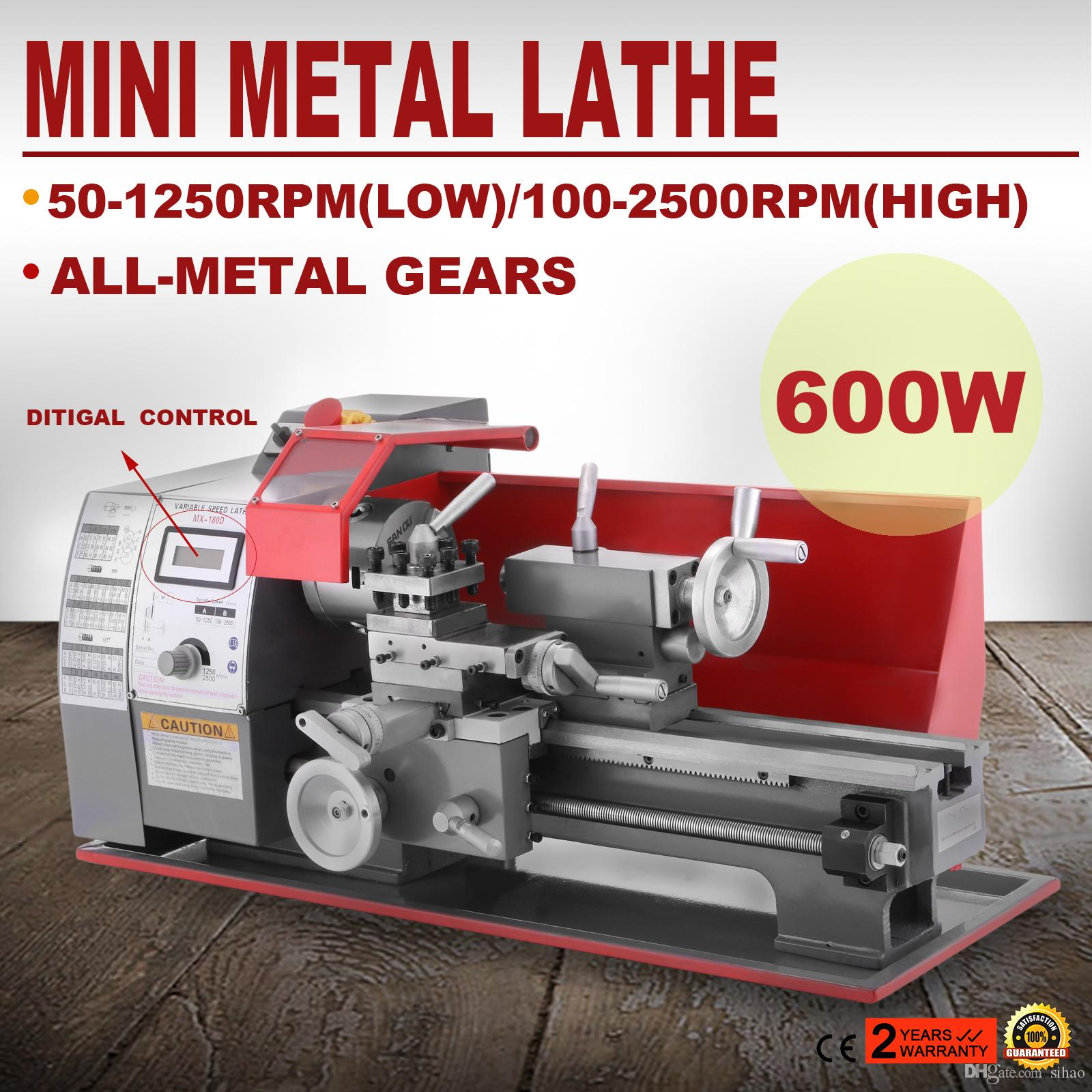 Hot Sale 65 Kg 600w Mini Metal Turning Lathe Machine Motorized