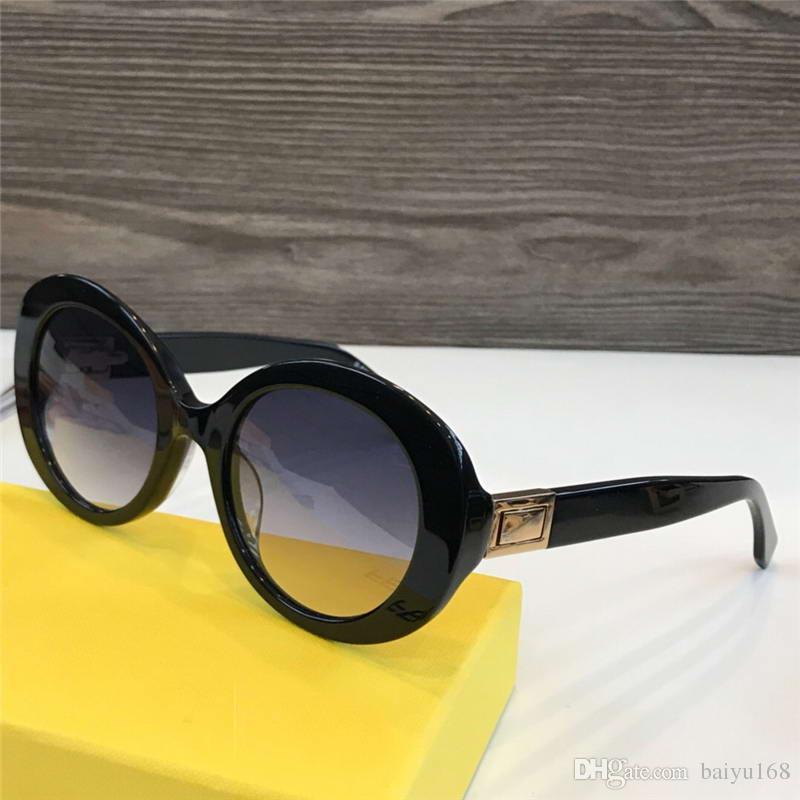 73a217287899 0293S Black Oval Sunglasses PEEKABOO Glasses Occhiali Da Sole Women ...