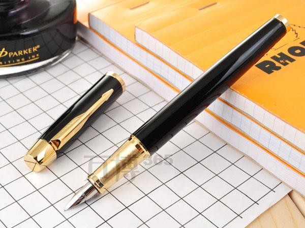 Parker Pen Black IM fountain Pen School Office Suppliers Signature Pens Excutive Fast Writing Pen Stationery Gift
