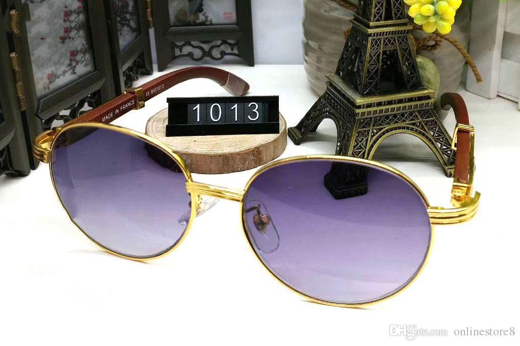 فرنسا تصميم الرجال كامل الذهب إطارات النظارات البني الأبيض خشبي الجاموس القرن النظارات العلامة التجارية النظارات البصرية النساء الخشب نظارات النظارات