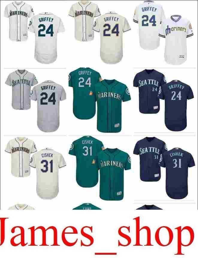 70bc8a99a1 2019 2019 Custom Men'S Women Youth Majestic Mariners Jersey #24 Ken Griffey  31 Steve Cishek 22 Robinson Cano Home Green Nary Blue Baseball J From  James_shop ...