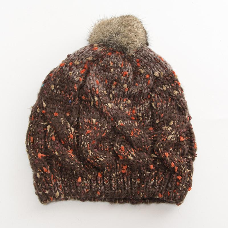 9d6a794d13e Cable Knitted Bobble Hat Plain Mens Womens Beanie Warm Winter Pom Cap  Ladies Jacquard Mixed Color Rabbit Hair Ball Knit Hat Skull Caps Stocking  Cap From ...