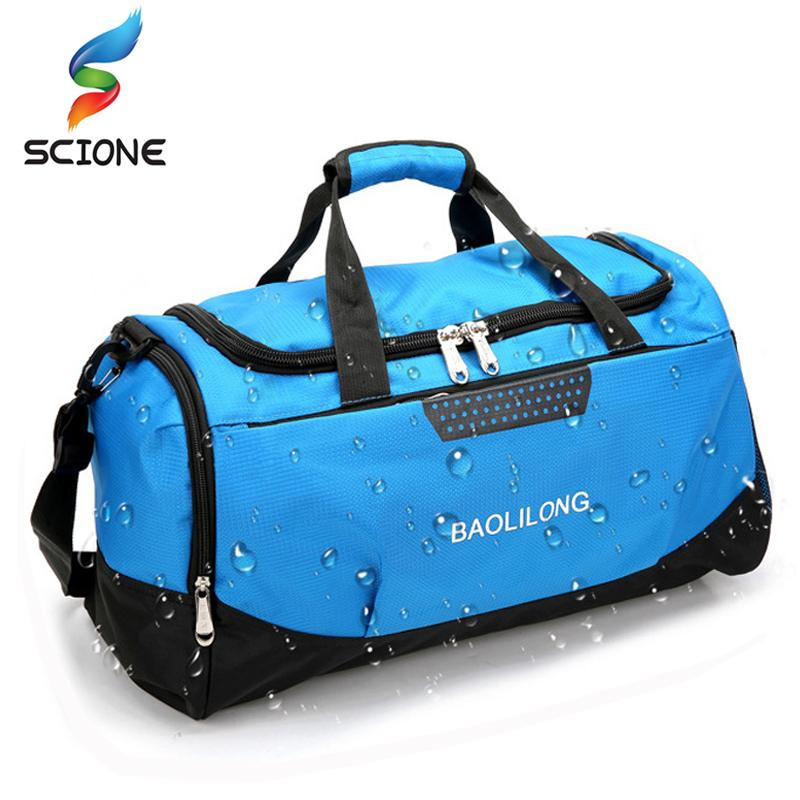 de7723c7a74 Professional Waterproof Large Sports Gym Bag With Shoes Pocket Men Women  Outdoor Fitness Training Duffle Bag Travel Yoga Handbag Backpacking  Backpack ...
