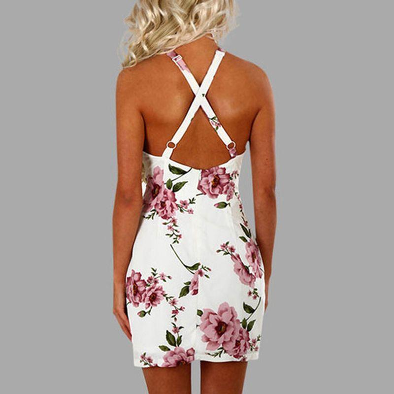b65c696f98e Elegant Womens Mini Dress Sexy Halter Neck Sleeveless Alluring Back  Nightclub Black Lace Flower Bodycon Dresses Vintage Prom Dresses Evening  Dresses Online ...