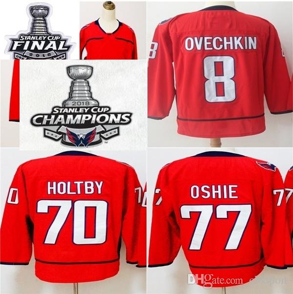 226aa4760 2018 Stanley Cup Final Champions Womens Kids Washington Capitals 8 Alex  Ovechkin 70 Braden Holtby 77 T.J. Oshie Red Ice Hockey Jerseys UK 2019 From  Cbssport ...