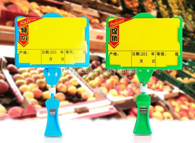 POP advertising poster price tag display frame fashion pop vegetable fruit price clip holder for supmarket free shippin