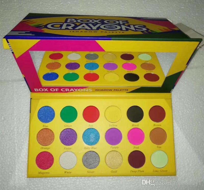 YENI Sıcak Makyaj Kutusu Boya Kalemleri Kozmetik Göz Farı Paleti 18 Renkler Ishadow Paleti Pırıltılı Mat Göz Güzellik DHL Nakliye