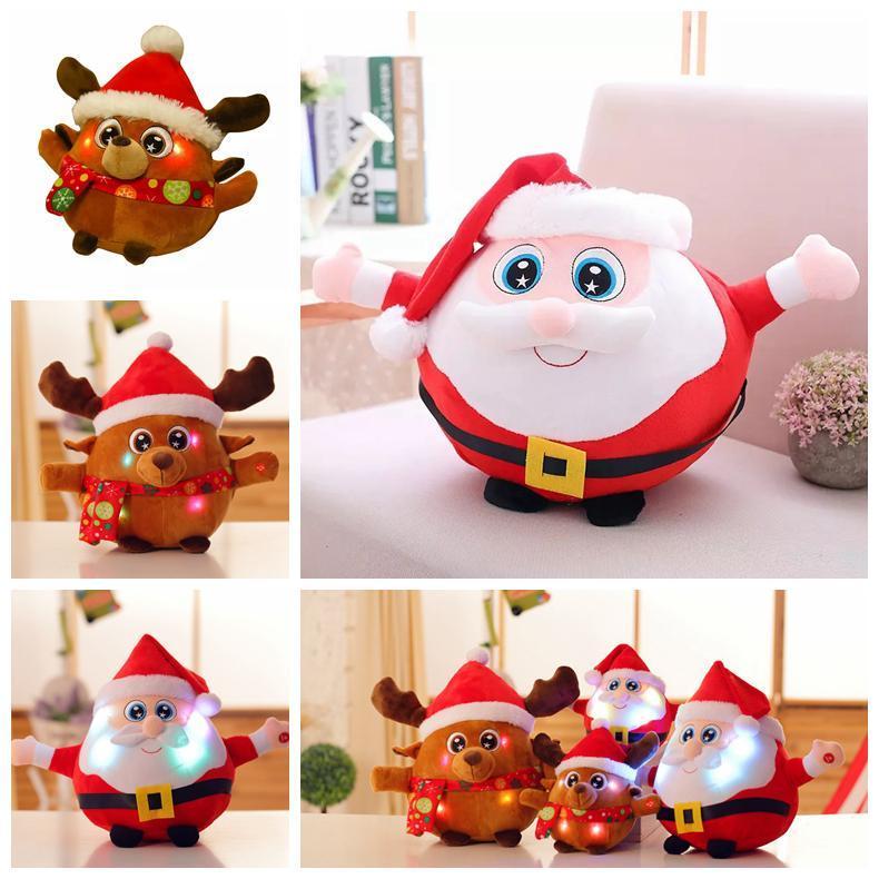 Großhandel Led Leuchtende Weihnachtsmann Plüsch Puppe Spielzeug ...