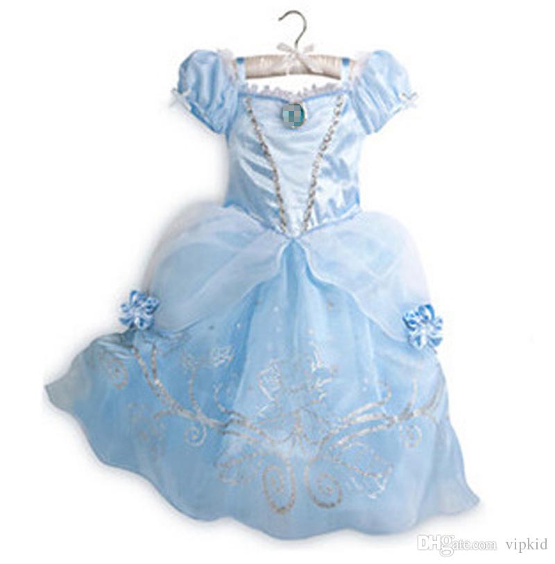 9 couleur mignonne robe fille violet coton princesse aurora flare manches robe robe vintage fleur robe livraison gratuite