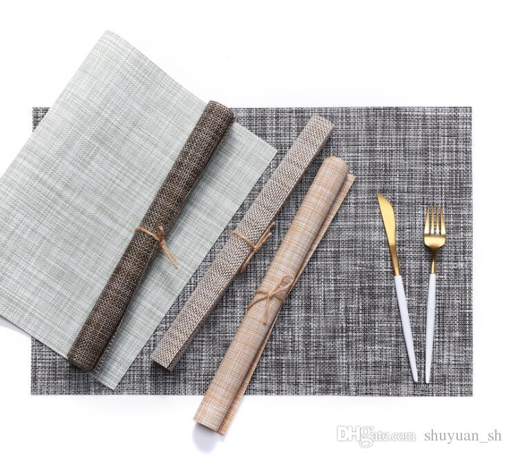2019 45x30cm PVC Tablecloth Warp Weft Knitting Table Cover Heat Resistant Tableware Mat Table Decoration Collection From Shuyuan_sh $3.02 | DHgate.Com  sc 1 st  DHgate.com & 2019 45x30cm PVC Tablecloth Warp Weft Knitting Table Cover Heat ...