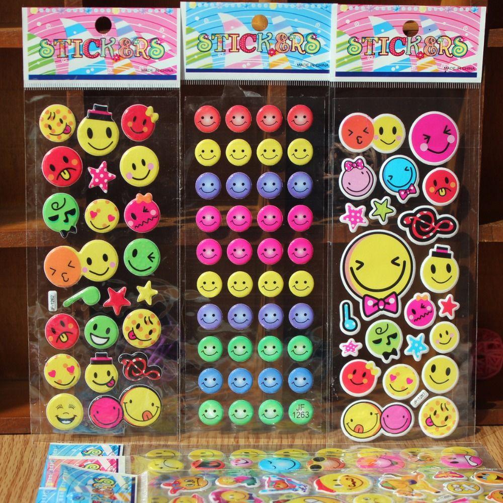 10sheets 17*7cm Smile Emoji Bubble Stickers Decorative 3D Scrapbook Foam  Stickers Party Favors Party Decoration For Kids boy