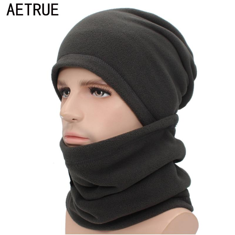 8d86f3d96ce 2019 AETRUE Winter Knitted Hat Scarf Beanie Men Women Cap Balaclava Male  Gorras Bonnet Winter Hats For Men Ring Skullies Beanies Hats From  Longanguo