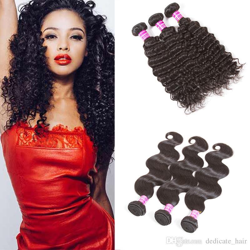 Seller Recommend Brazilian Virgin Hair Vendors Straight Deep Wave Human  Hair Weave 3/4 Bundles Brazilian Indian Malaysian Hair Extensions