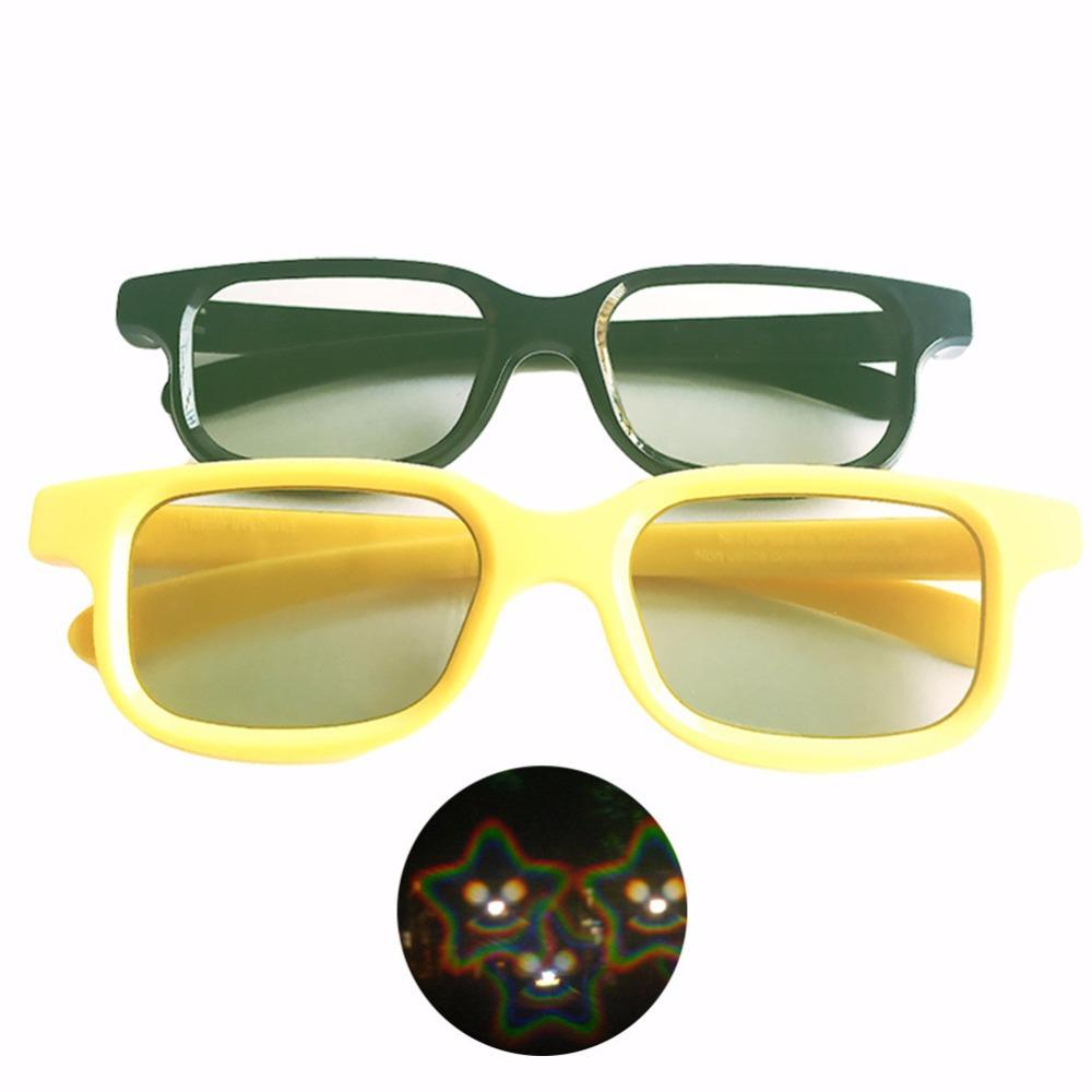 2018 blackblueyellow color 3d christmas and new years star smile diffraction fireworks glasses plastic for raveslasers from athenal 3134 dhgatecom