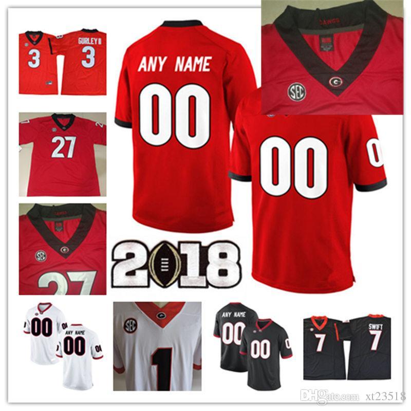 888f657834c 2019 Custom 2018 Georgia Bulldogs Rose Bowl College Football Jersey  Personalized Mecole Hardman Isaiah Wynn Roquan Smith Georgia Bulldogs  Jerseys From ...