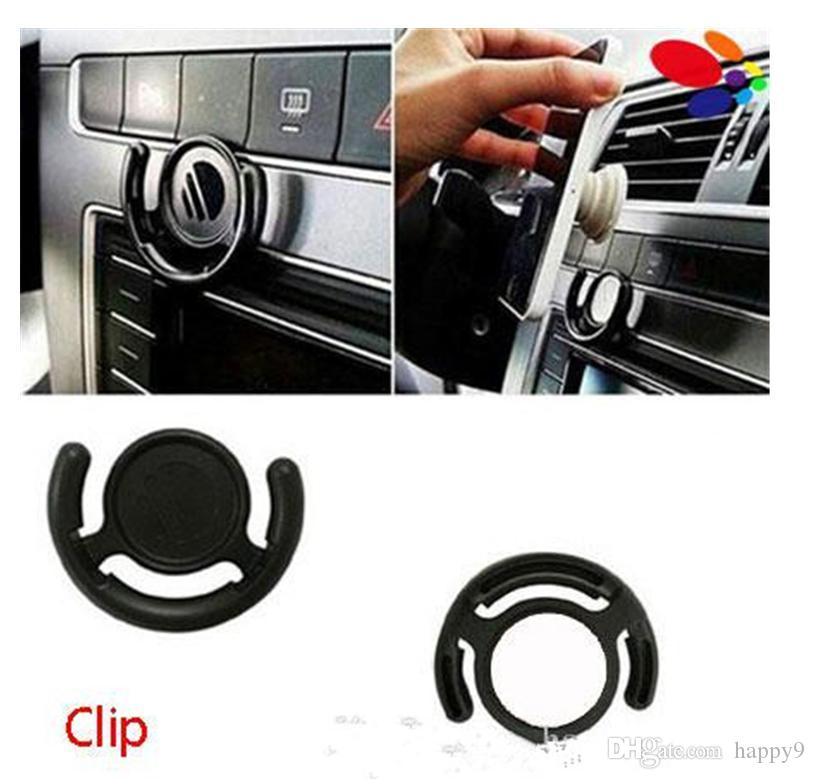 Multifunction Phone Holder Monut Clip Car Wall Office Home Hook for iPhone Samsung Cellphone Tablets with Retail Bag Black White