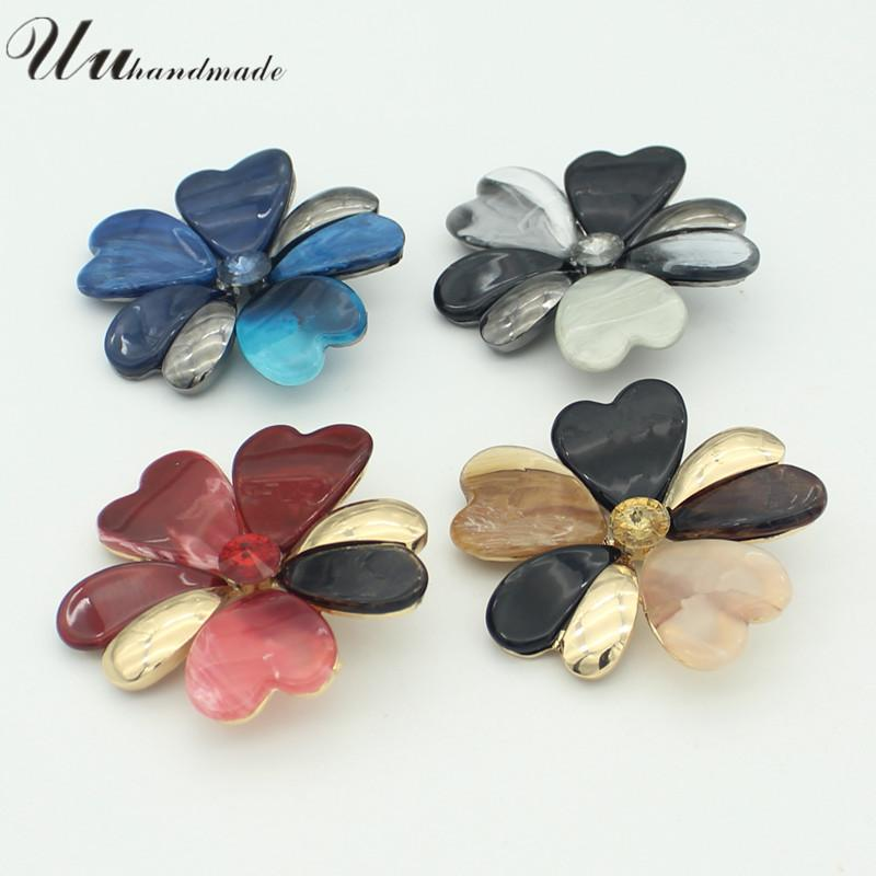 Vintage Flower Brooch Women Broches Jewelry Fashion Brooches For Broche Mujer Broach Brosche Scarf Spilla 2018 Real Limited Pin