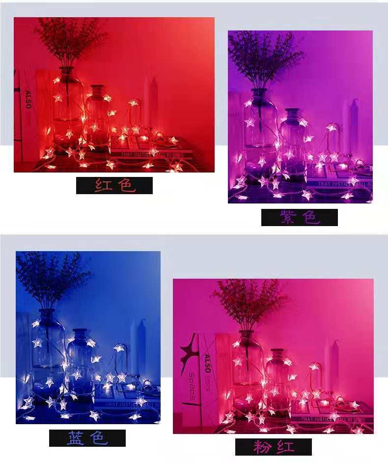 Coloré Nouveau Romantique Étoiles Murs De Mode Eclairage Windows Action Grâce Batterie Chevet Chambre Jour D'enfants Lampe Arts Noël 8nw0NvmO