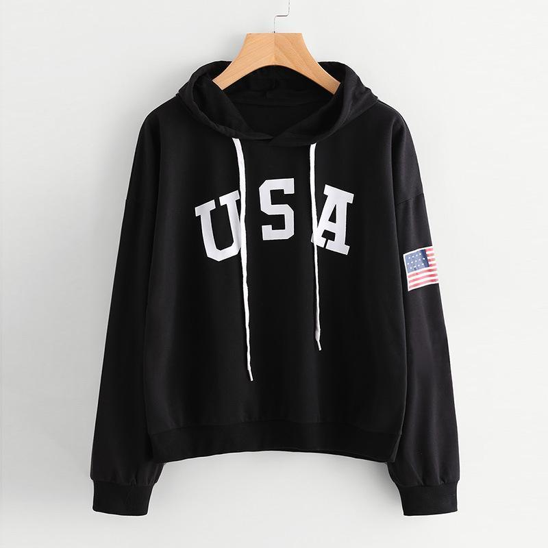 4ffbff9c 2019 2017 Winter Hoodies Sweatshirts Women With Print Letter Flag Pullover  Hoodie Designer Warm With Long Sleeve Hooded Sweatshirt Women Clothing From  ...