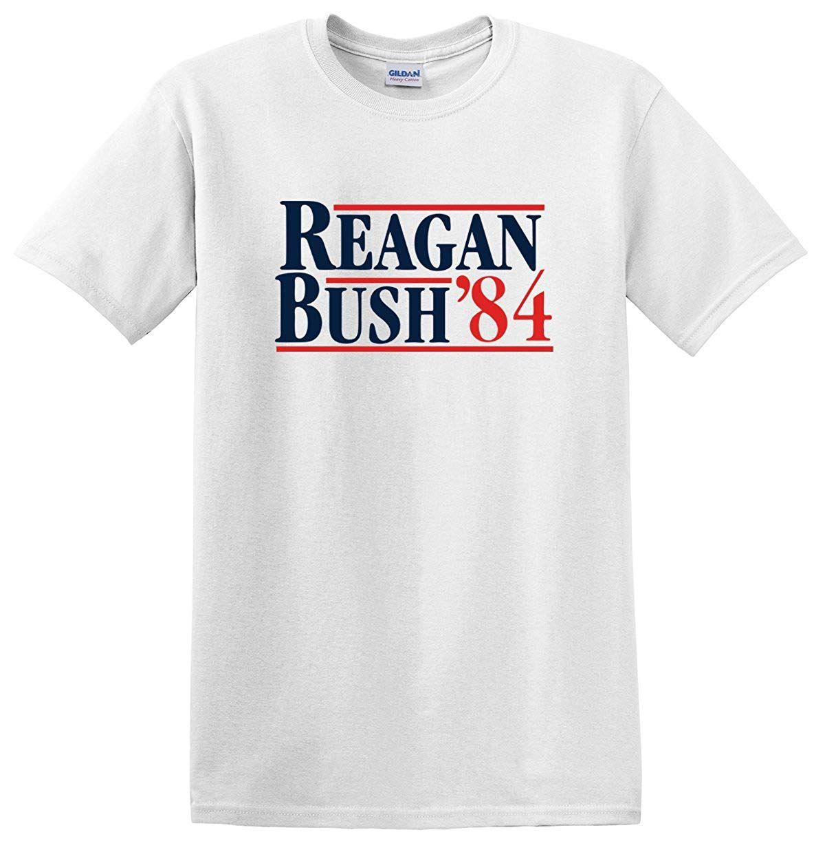 931bdc45 Reagan Bush 84 T Shirt Republican Presidential Election Campaign GOP T Shirt  Designer T Shirt Coolest T Shirts From Dhkelinton, $11.17| DHgate.Com