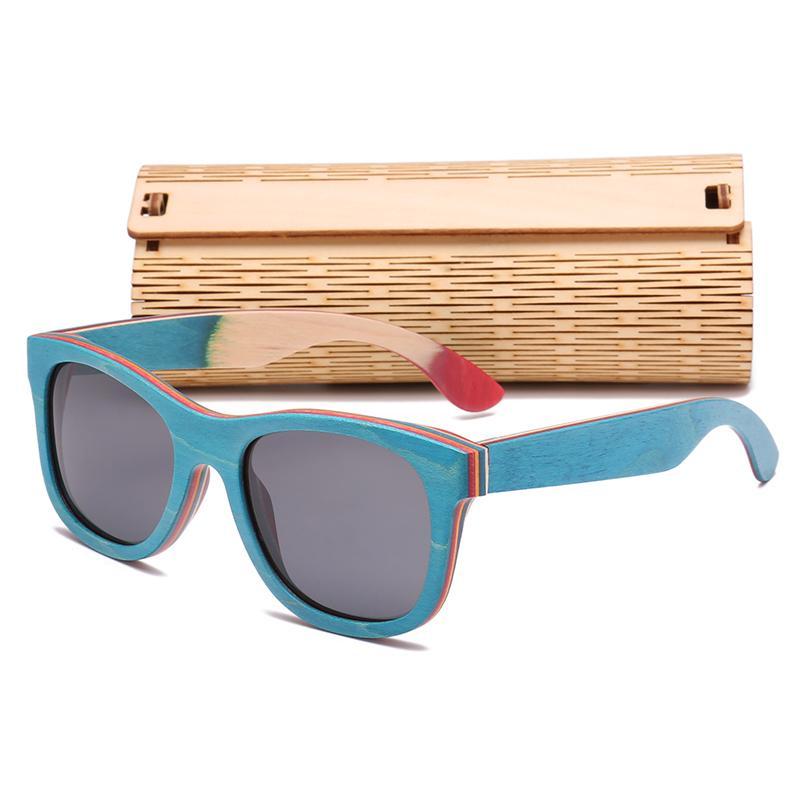 a031278eb Compre Polarizada De Madeira Óculos De Sol Dos Homens De Bambu Óculos De  Sol Das Mulheres Designer De Marca Originais Óculos De Madeira Oculos De  Sol ...