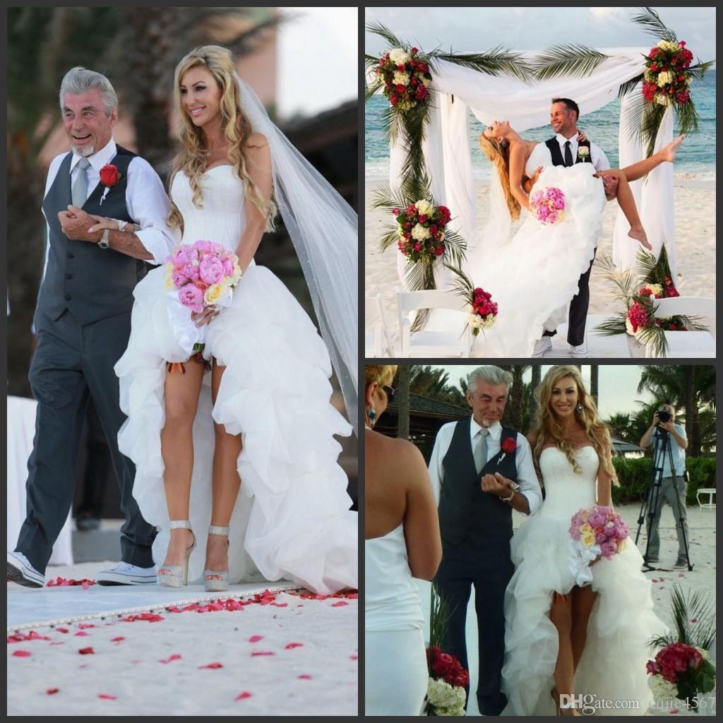 5a3920e0891 2018 New Sexy Arrival Cheap Short Beach Wedding Dresses Seetheart Corset  Back A Line High Low Wedding Gowns vestidos de novia