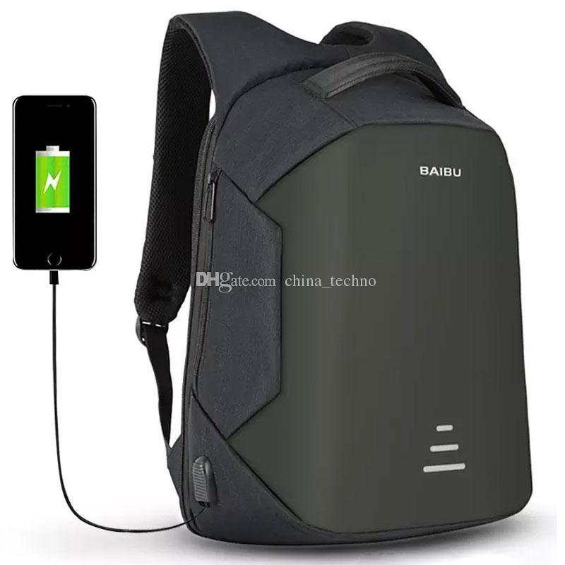 636721eecff30 Großhandel Beste Qualität Anti Diebstahl Reise Rucksack Mit USB Lade Laptop  Rucksäcke Wasserdichte Schule Rucksäcke Outdoor Taschen Von China techno