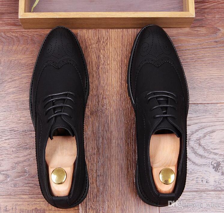 nueva primavera zapatos de vestir para hombre mocasines zapatos de boda talla zapatos negros tamaño 38-43 228