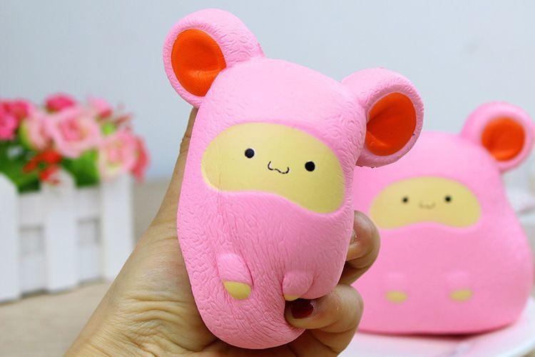Stock Squishy nouvelle grosse oreille souris lente rebond jouet simulation hamster peluches