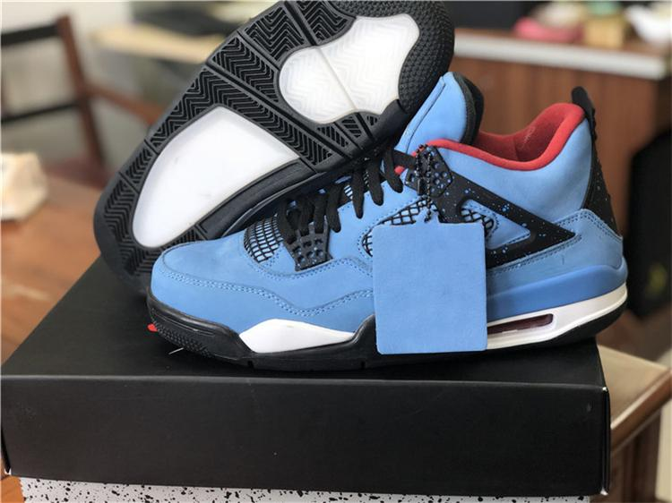 HOTTEST 2018 4 TRAVIS SCOTT CACTUS JACK HOUSTON OILERS BASKETBALL SHOES aa4ed07c46