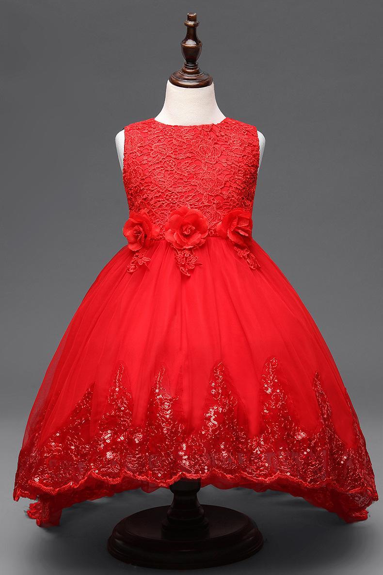 Großhandel Baby Mädchen Pailletten Verziert Kleidung Kinder Kleider  Hochzeit Weiß Rot Rosa Lila Blumenmädchen Kleid Für Party Prom Geburtstag  Von
