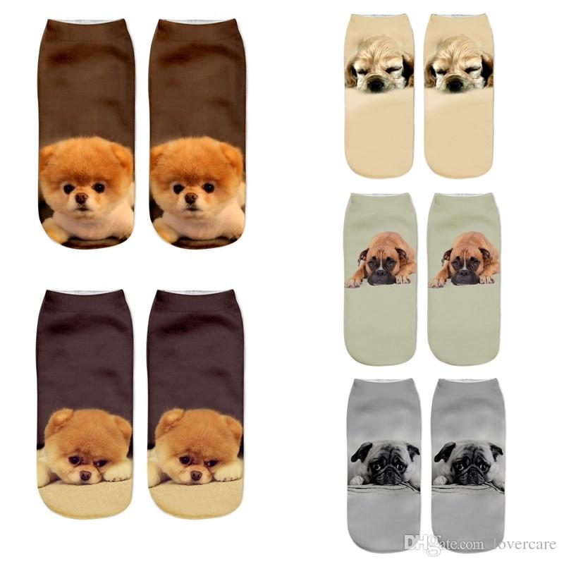 2019 3d Printing Socks Harajuku Wind Dog Printing Novelty Socks Men