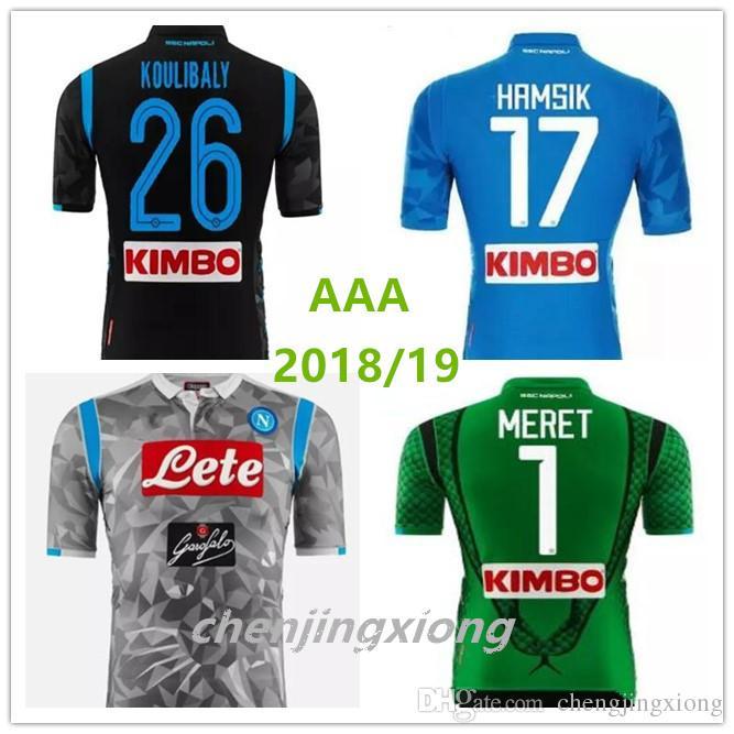 Compre 2018 Napoli Casa Azul Camisa De Futebol 18 19 Nápoles Azul Camisa De Futebol  2018 Personalizado   14 MERTENS   17 HAMSIK   24 INSIGNE Uniforme De ... c8fbbc3a98bf3