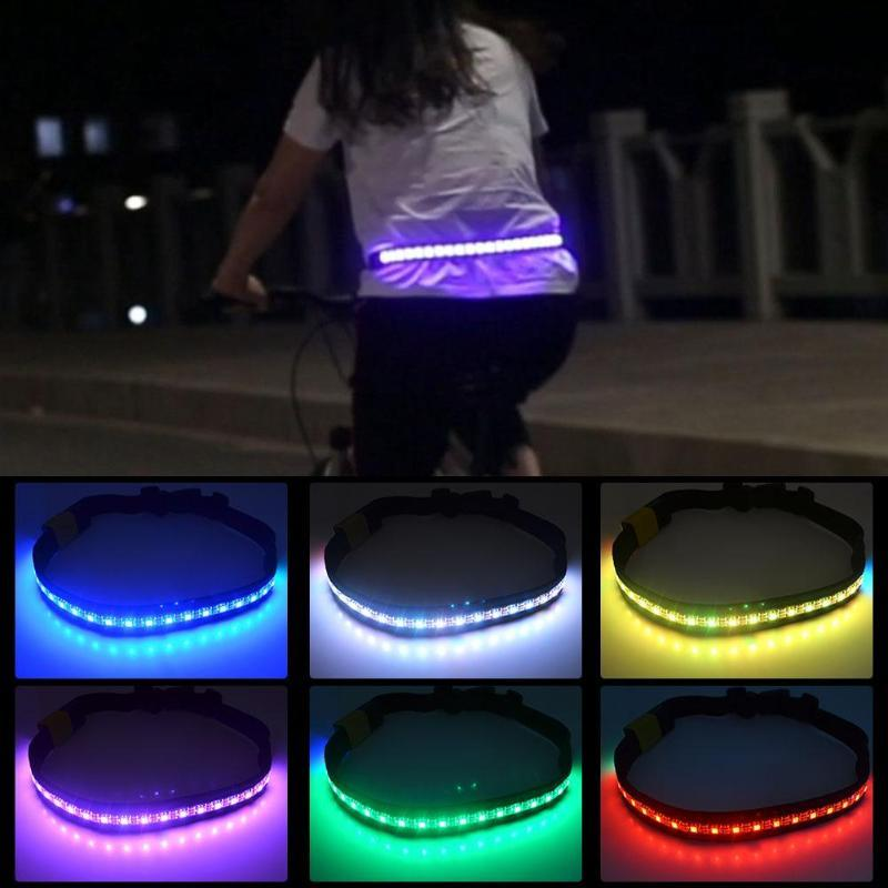 Acheter 2.4G Télécommande Sans Fil LED Lampe Dans Les Virages 8 Modes  Clignotant Ceinture Sécurité Ceinture Réfléchissante Jogging En Cours  D exécution ... b1bf61a6e3e