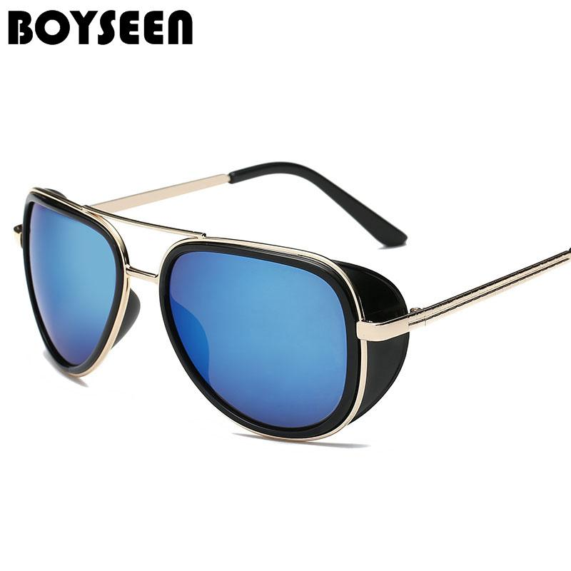 37dc72d1e7 Tony Stark Iron Man Sunglasses Men Luxury Brand Eyewear Mirror Punk Sun  Glasses Vintage Male Sunglasses Steampunk Oculos Ironmen Mens Eyeglasses  Sport ...