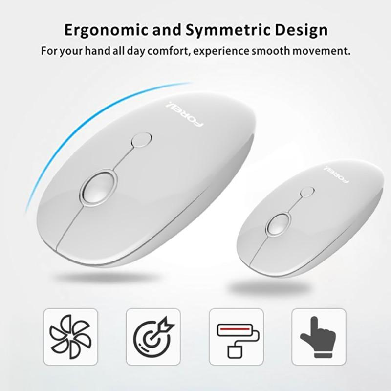 Ultra Thin 1000 DPI Wireless Mouse Mute Silent Click Mini Noiseless Optical Mice for Notebook PC Laptop Computer MacBook