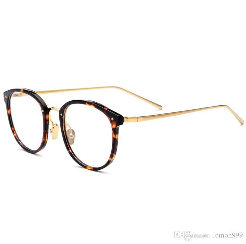 65e2bd51f4 Retro Round Eyeglasses Frames for Women Optical Glasses Frame Brand ...
